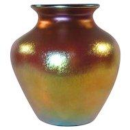Steuben, Gold Aurene Magnum Size Vase, Wonderful Gold Iridescence