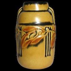 Roseville Pottery, Laurel Yellow Vase, Art Deco Flavor, Very Nice