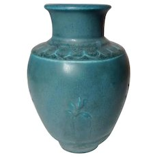 Rookwood Pottery, Speckled Matte Blue, Arts & Crafts Design, Grecian Urn Vase