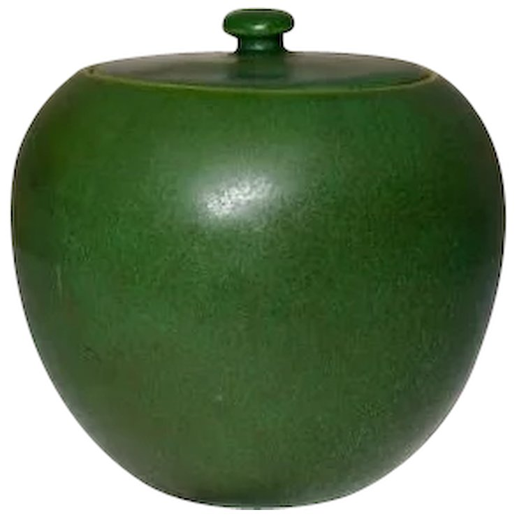 Hampshire Pottery Cuber Green Ginger Jar Extremely Rare X Clements Antiques Of New Ruby Lane