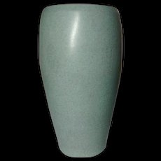 Marblehead Pottery, Matte Speckled Gray Tapered Swollen Vase, Excellent