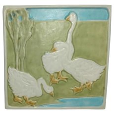 Rookwood Pottery, Geese Trivet Tile, Excellent Condition, Nice Colors