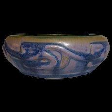 Fulper Pottery, Vasekraft Era Small Low Bowl Planter, Great Wistaria Mix Glaze