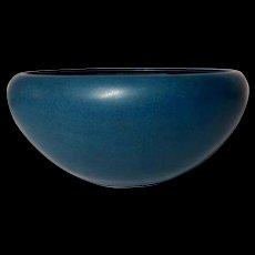 Marblehead Pottery, Mission Bowl, Marblehead Blue Glaze, Nice