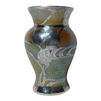 Loetz, Gold Candia Silberiris Silver Overlay Vase, Very Nice