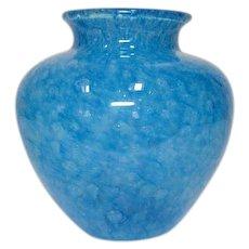 Steuben, Blue Cluthra Vase, Large Magnum Size, HTF Color, Very Nice