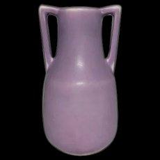 Rookwood Pottery, Arts & Crafts Buttress Handled Vase, Lavender Glaze, HTF Color