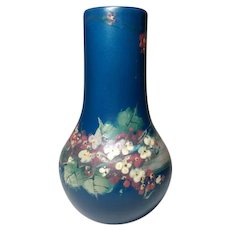 Weller Pottery, Blue Hudson, Large Apple Blossoms Vase, Beautiful