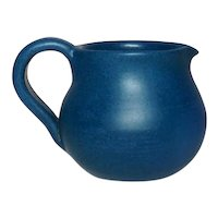 Marblehead Pottery, Deep Blue Creamer, Nice