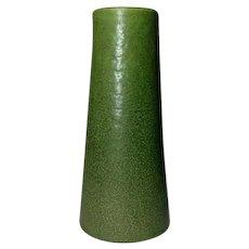 Grueby Pottery, Matte Green Tapered Bud Vase, Very Nice Frothy Glaze