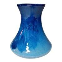 Weller Pottery, Blue Louwelsa Berry and Leaf Vase, HTF Pattern, Rare