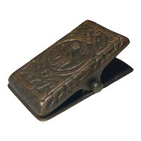 Tiffany Studios, Zodiac Paperclip, Acid Etched Craftsman Brown Patina, Nice