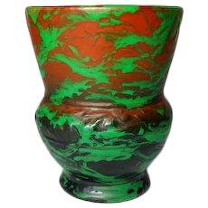 Weller Pottery, Greora Vase, Outstanding Glaze, Lots of Copper