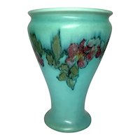 Rookwood Pottery, Decorated Mat Floral Vase, Margaret H McDonald, Louise Abel