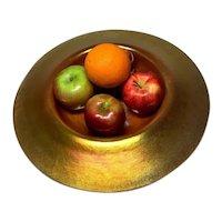 Steuben Gold Aurene on Calcite, Large Center Piece Bowl, Impressive Size, HTF