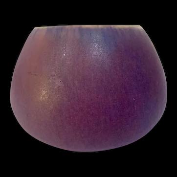 Fulper Pottery, Wistaria Glaze, Squat Form Cabinet Vase, Very Nice