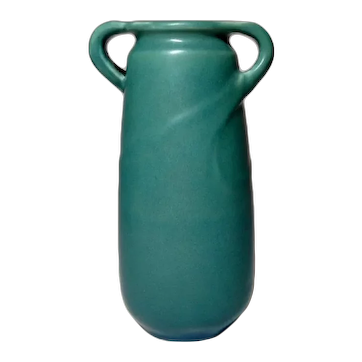 Rookwood Pottery, Tapered w Applied Twisted Loop Handles Vase, Nice, Rare Form