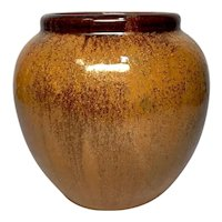 Fulper Pottery, Copper Dust Vase, Ovoid Shape, Great Glaze, Excellent Condition