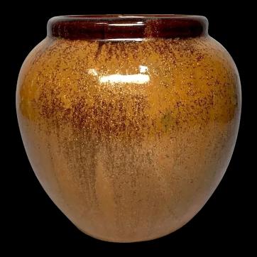 Fulper Pottery, Copper Dust Vase, Ovoid Shape, Great Glaze, Excellent Condition