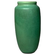 Teco Pottery, Matte Green Swollen Form, Nice Size, Arts & Crafts, Very Nice