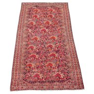 Antique Sarouk Ferahan / Malayer Oriental Rug , Western Persia , Late 19th Century , 6.6 x 3.8