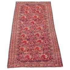 Antique Sarouk Ferahan / Malayer Oriental Rug , Western Persia , Late 19th Century , 6.6 x 3.8