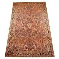 Persian handmade Sarouk Oriental Rug circa 1930 , 6.5 x 4.1