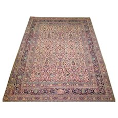 Persian handmade Meshed Oriental Rug,Carpet,Khorassan Province , Northeast Persia , Early 20th Century  11.4 x 8.10