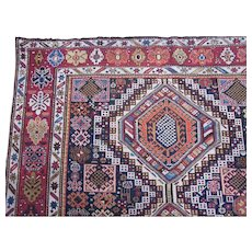 Antique Shirvan Gallery Carpet , Eastern Caucasus circa 1900 , 11.11 x 5.7