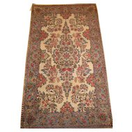 Persian handmade Kerman Oriental Rug circa 1920 , 5.4 x 2.11