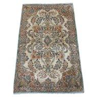 Persian handmade Kerman Oriental Rug , South East Persia circa 1930 , 4.10 x 3