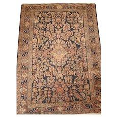 Persian handmade Sarouk Oriental Rug circa 1920 , 4.8 x 3.3