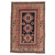 Antique East Caucasian Oriental Rug circa 1900 , 5.1 x 3.6