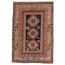 Antique East Caucasian Oriental Rug circa 1900 , 5.1 x 3.6