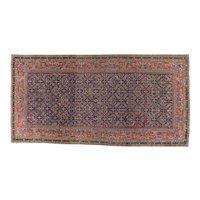 Antique Ferahan Gallery Carpet 12.9 x 6.6 , Arak Province , West Central Persia circa 1875
