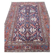 Antique Heriz - Goravan 12x8.8 , NW Persia circa 1900