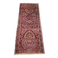 Persian  Sarouk Runner, Oriental Rug circa 1920 , 6.7 x 2.7