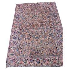 Kerman Small Carpet oriental Rug , Southeast Persia 1920's , 8.8 x 5.11