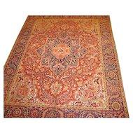 Persian handmade Heriz circa 1920, 12.6 x 10.1