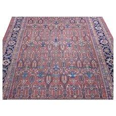 Antique Mahal Carpet 12.9x9.2 , Sultanabad District , Central Persia circa 1900
