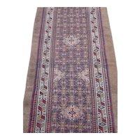 Antique Hamedan or Serab Camel Hair Runner Rug, Northwest Persia , last Quarter Of 19th Century , 13.5 x 3.2