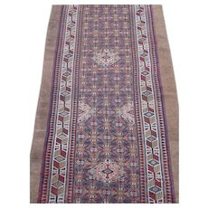 Antique Hamedan or Serab Camel Hair Runner Rug, Northwest Persia , last Quarter Of 19th Century , 13.5 x 3.2