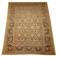 Antique authentic Persian Hadji Jalili Tabriz Oriental Rug,Azerbaijan Province,Northwest Persia circa 1890 , 5.8 x 4.4