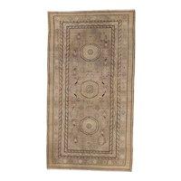 Antique Khotan Long Oriental Rug , Xinjiang Province , Western China circa 1900 , 9.10 x 5.6