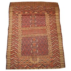 Antique Tekke Ehgsi Rug,West Turkmenistan circa 1850,4.9 x 3.6
