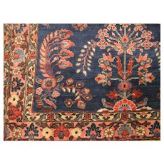 Antique Persian Mohajeran Sarouk Oriental Rug circa 1910 , 4.11 x 3.5