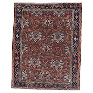 Persian handmade Karadja Oriental Rug circa 1920 , 6.3 x 5
