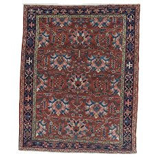 Karadja Oriental Rug Squarish 6.3x5, NW Persia circa 1920
