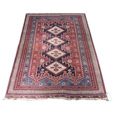 Antique Afshar Oriental Rug , Kerman Province , S.E. Persia , Late 19th Century , 6 x 4.7