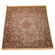 Antique Persian Atiyeh Kerman,Square Size, 3.11 x 3.10